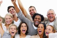 people cheering - boost employee engagement