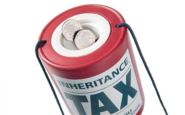Money pot with Inheritence Tax written on