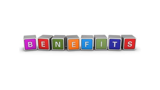 Benefits written on blocks